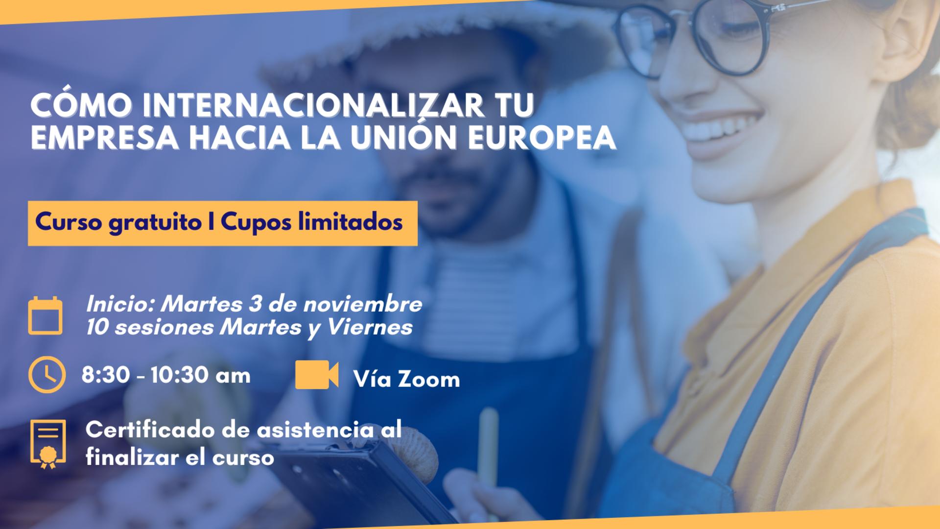 INNOVACION - EMPRENDIMIENTOS - Proyecto INSPYRAME UE - Curso virtual sobre internacionalización hacia Unión Europea